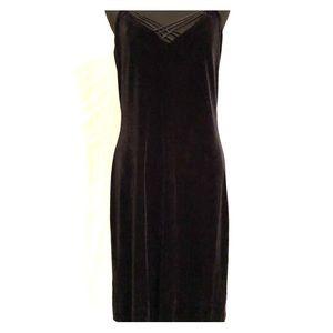 LRL Black Velvet Dress